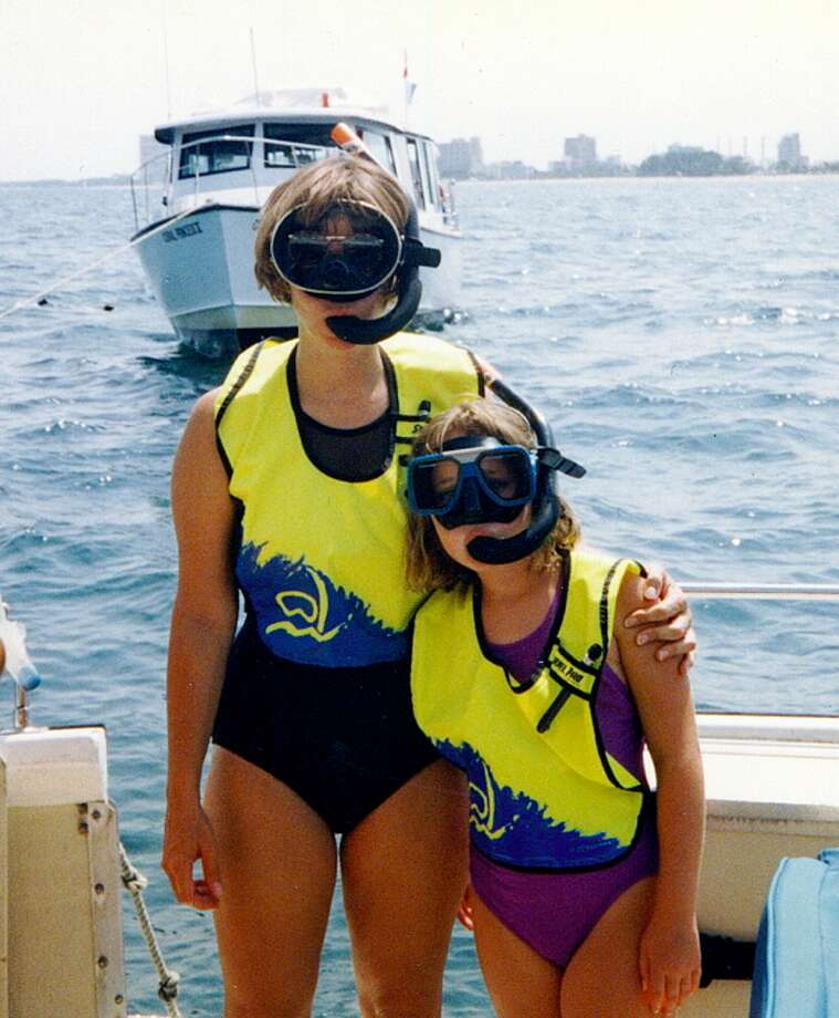 Some mothers and daughters snorkel together. Photo: Martha DeAngelo