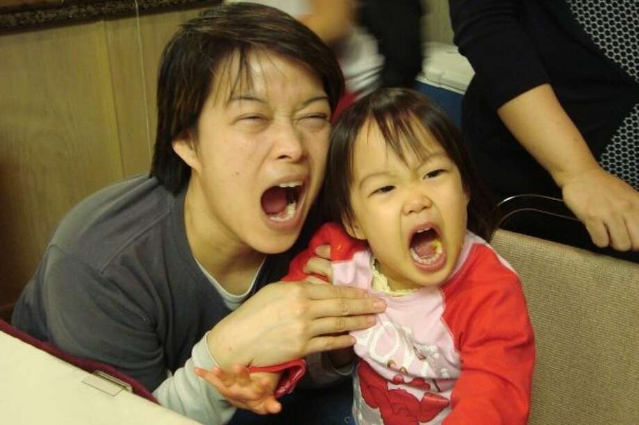 This mother and daughter make funny faces together. Photo: Carla Bayot