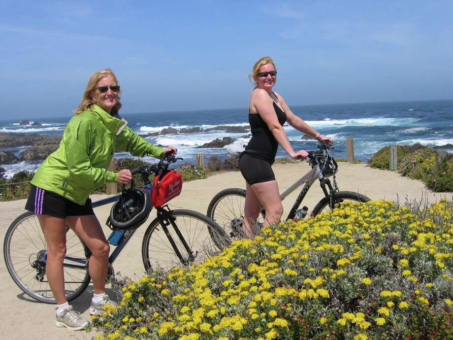 Some mothers and daughters go biking together. Photo: Beverly Zalan