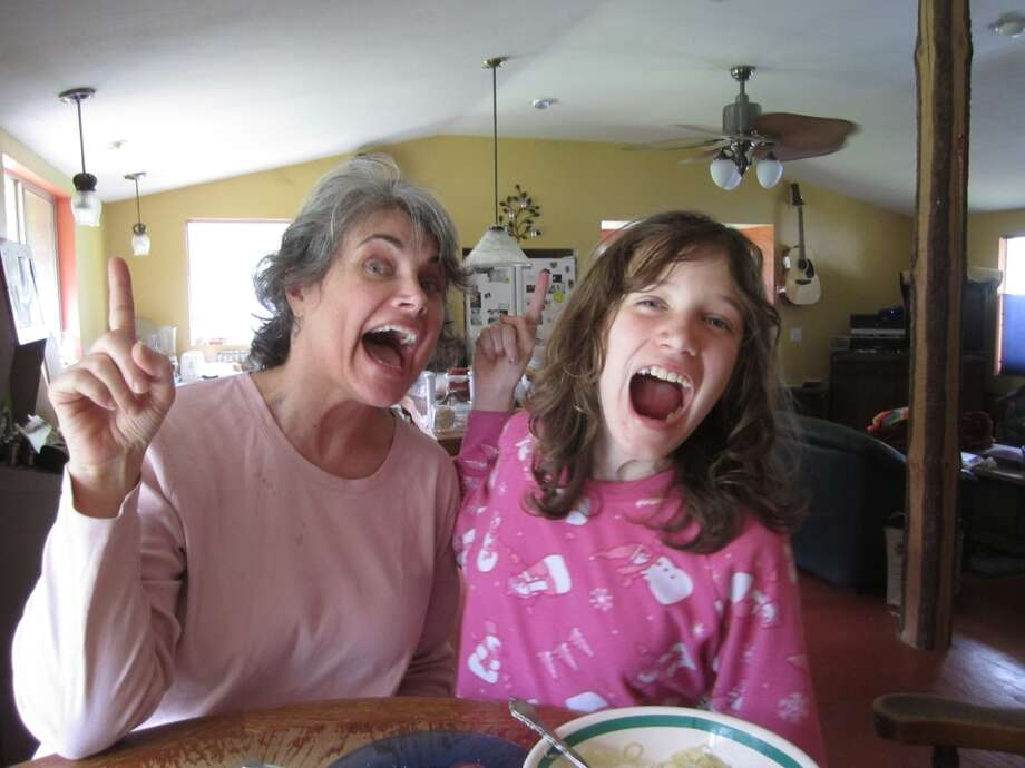 All mothers and daughters enjoy acting silly together. Photo: Sky Wallace
