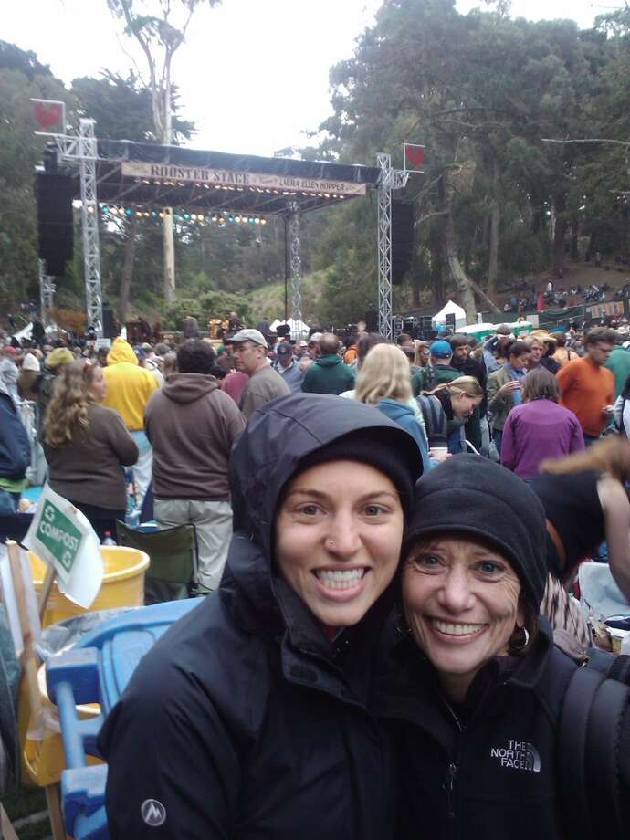 Some mothers and daughters go to Hardly Strictly Blue Grass together. Photo: Gavriel Elkind