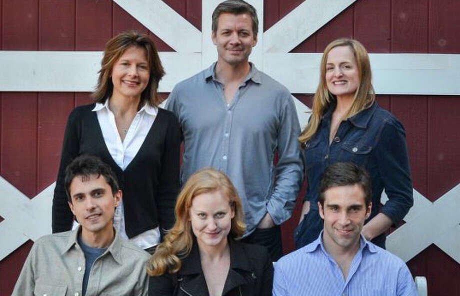 """The cast of A.R. Gurney's """"The Dining Room"""" now being performed through May 19 at the Westport Country Playhouse -- from left, top row: Jennifer Van Dyck, Chris Henry Coffey and Keira Naughton; front row: Charles Socarides, Heidi Armbruster and Jake Robards. Photo: Contributed Photo / Westport News contributed"""