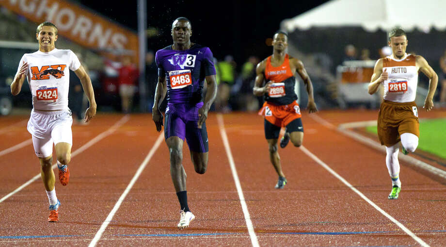 Willis High School's Chris Platt runs the 4A Boys 400 Meter Dash during the UIL High School State Track Meet at Mike A. Myers Stadium Friday, May 10, 2013, in Austin. Photo: Cody Duty, Houston Chronicle / © 2013 Houston Chronicle