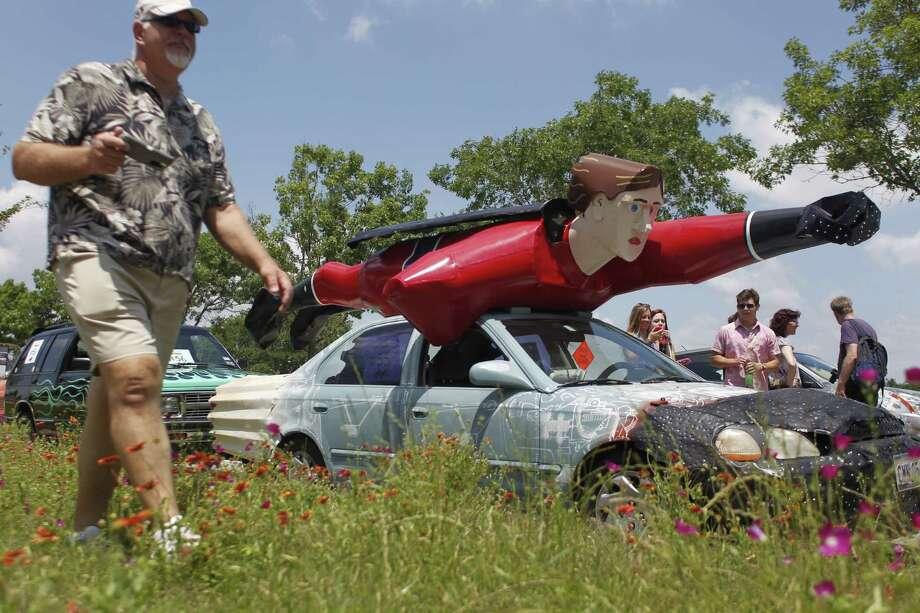 Art Car Parade Saturday. Photo: Johnny Hanson/Chronicle