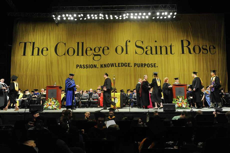 The College of St. Rose held its 90th Annual Commencement at the Times Union Center on Saturday May 11, 2013 in Albany, N.Y. (Michael P. Farrell/Times Union) Photo: Michael P. Farrell