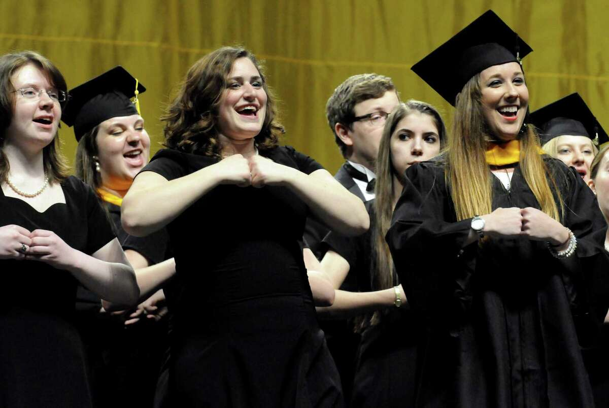 Members of The College of St. Rose Chamber Choir perform
