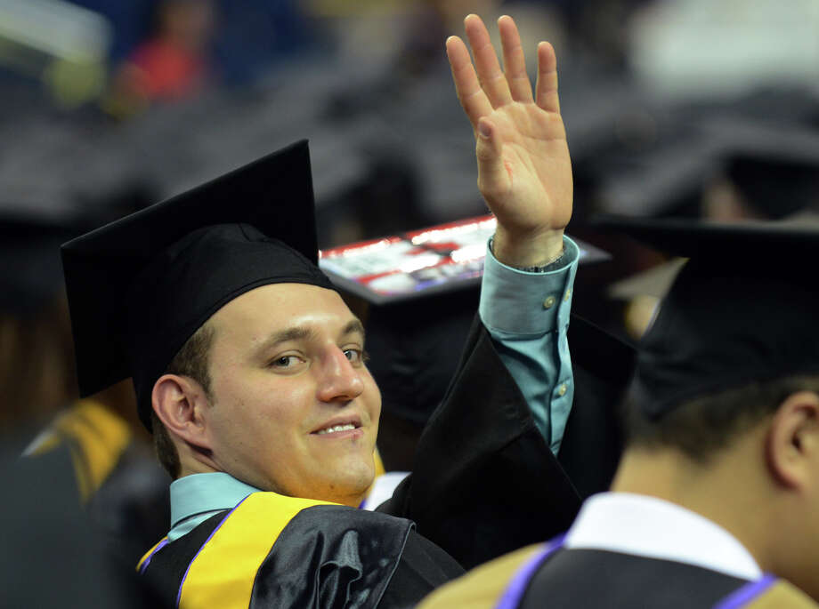University of Bridgeport's 103rd Commencement Ceremony held at the Webster Bank Arena in Bridgeport, Conn. on Saturday May 11, 2013. Photo: Christian Abraham / Connecticut Post