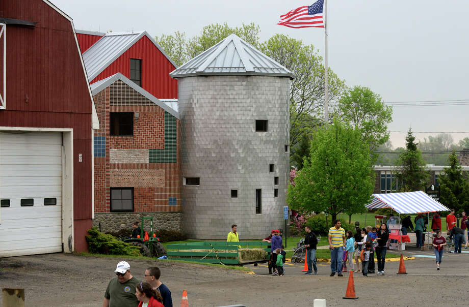 """Trumbull's Agriscience and Biotechnology Center held its Farm Fair on Saturday May 11, 2013. The fair included tractor hay rides, sheep shearing, a petting zoo, crafts fair and refreshments. According to the center's website, """"High school students from Trumbull and eight other surrounding towns participate in the Regional Agriscience and Biotechnology program, supported by the Trumbull Board of Education and the State of Connecticut."""" Photo: Christian Abraham / Connecticut Post"""