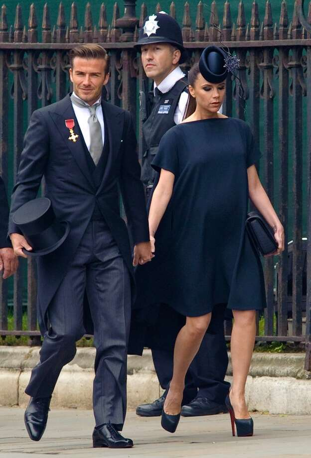 David Beckham and Victoria Beckham arrive at Westminster Abbey on April 29, 2011 in London, England. (Photo by Fiona Hanson - WPA Pool/Getty Images)