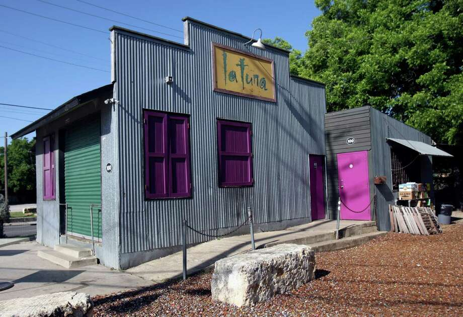 La Tuna ice house, a funky structure that went up without much ado 21 years ago from basic lumber store supplies and with the labor of co-owners Michael Berrier and Michael Looney. Photo: Helen L. Montoya, San Antonio Express-News / ©2013 San Antonio Express-News