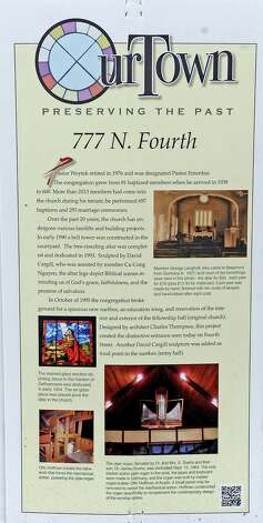 "777 N. FOURTH STREET On September 4, 1927, fifteen ""hardy souls"" signed the church roster as charter members of Bethlehem Evangelical Lutheran Church of Beaumont, meeting for a time in temporary locations. The growing congregation soon purchased a residence at 2005 Hazel to use as its worship space and pastor's living quarters. This chapel/parsonage accommodated the congregation for ten years.  Photo taken: Randy Edwards/The Enterprise"