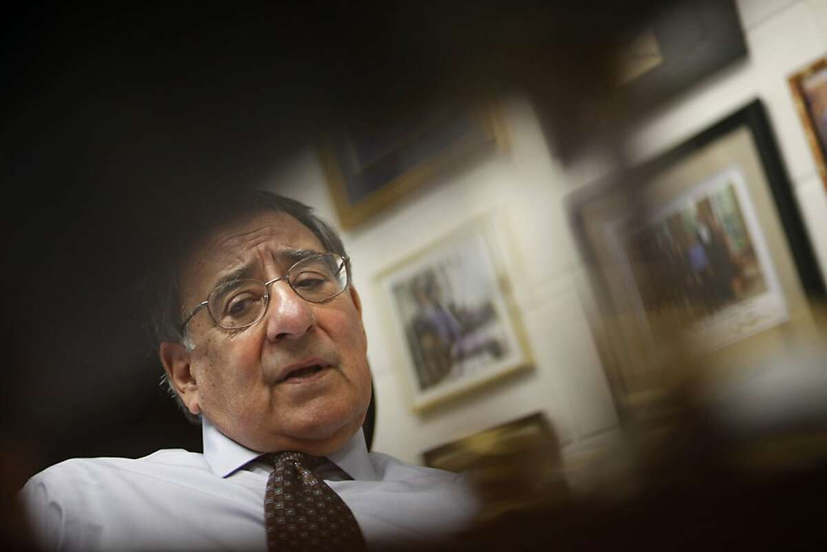 Former Defense Secretary Leon Panetta, is seen in his office at The Panetta Institute for Public Policy on Tuesday, April 16, 2013 in Seaside, Calif.