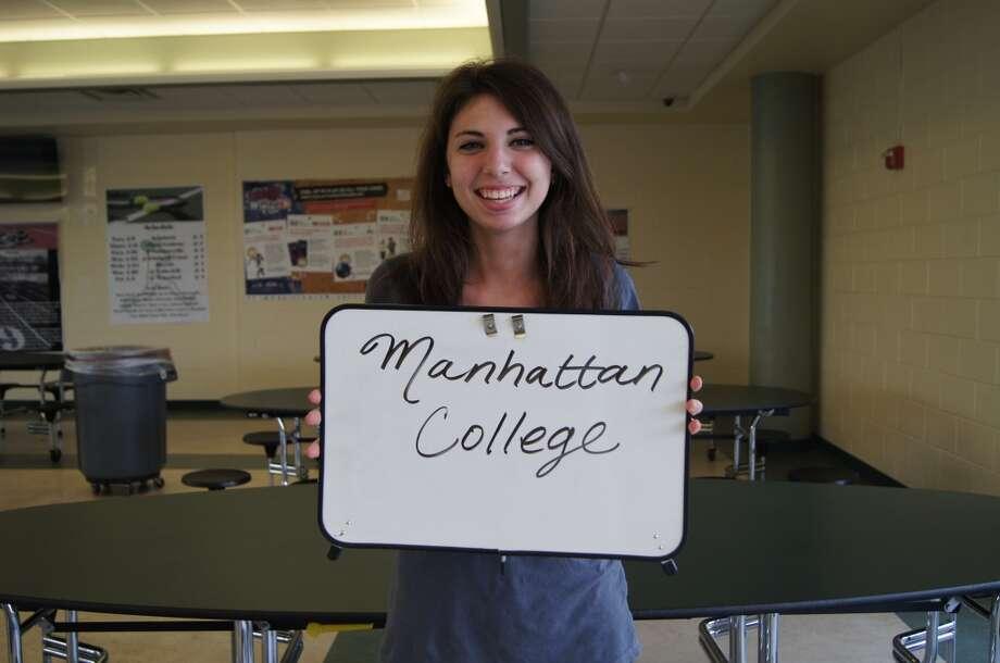 Kara Curtin going to Manhattan College. Photo by Rosa D'Ambrosio.