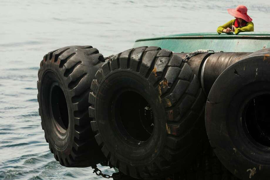Can you throw rubber tires at a hurricane?A leading British engineer and Microsoft billionaire Bill Gates have patented an idea involving tires and giant plastic tubes. The idea is that a large blob of these tires and plastic tubes would float toward a potential hurricane area and cool the water, preventing it from forming. Photo: JORDAN STEAD, SEATTLEPI.COM / SEATTLEPI.COM