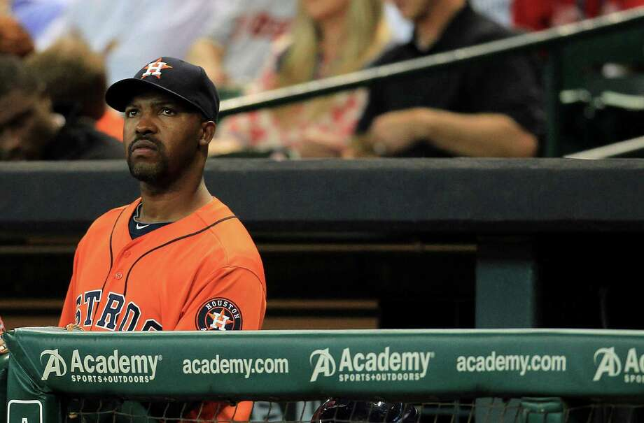 Houston Astros manager Bo Porter (16) in the dugout during the first inning of an MLB game at Minute Maid Park, Friday, May 10, 2013, in Houston.  ( Karen Warren / Houston Chronicle ) Photo: Karen Warren, Staff / © 2013 Houston Chronicle