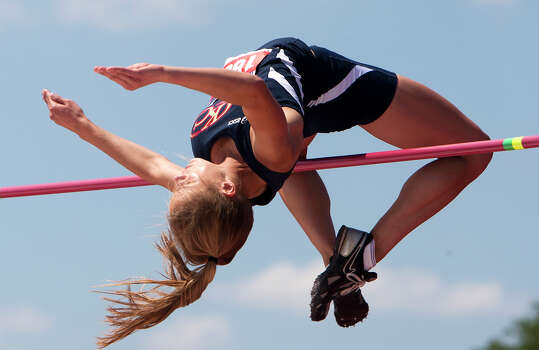 North Lamar High School's Kara Erickson competes in the 3A Girls High Jump during the UIL High School State Track Meet at Mike A. Myers Stadium Saturday, May 11, 2013, in Austin. Photo: Cody Duty, Houston Chronicle / © 2013 Houston Chronicle