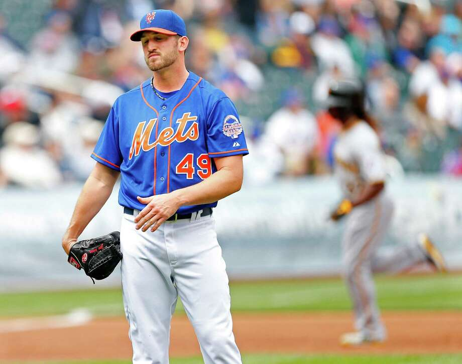 NEW YORK, NY - MAY 11:  Pitcher Jon Niese #49 of the New York Mets reacts Andrew McCutchen #22 of the Pittsburgh Pirates rounds third base on a home run by Jose Tabata #3 in the third inning during a game at Citi Field on May 11, 2013 at Citi Field in the Flushing neighborhood of the Queens borough of New York City. (Photo by Rich Schultz/Getty Images) Photo: Rich Schultz