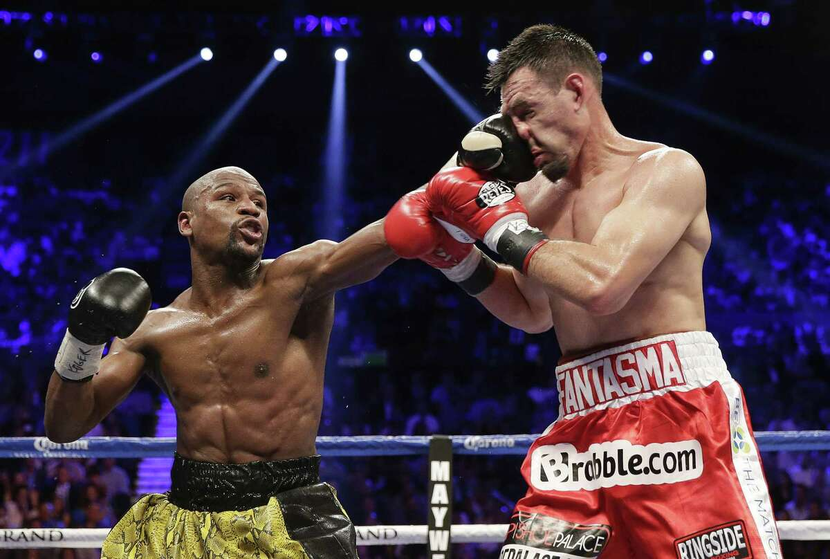 Floyd Mayweather Jr., landing a left jab against Robert Guerrero last weekend, connected on 60 percent of his power shots and 41 percent of his punches overall in the bout.