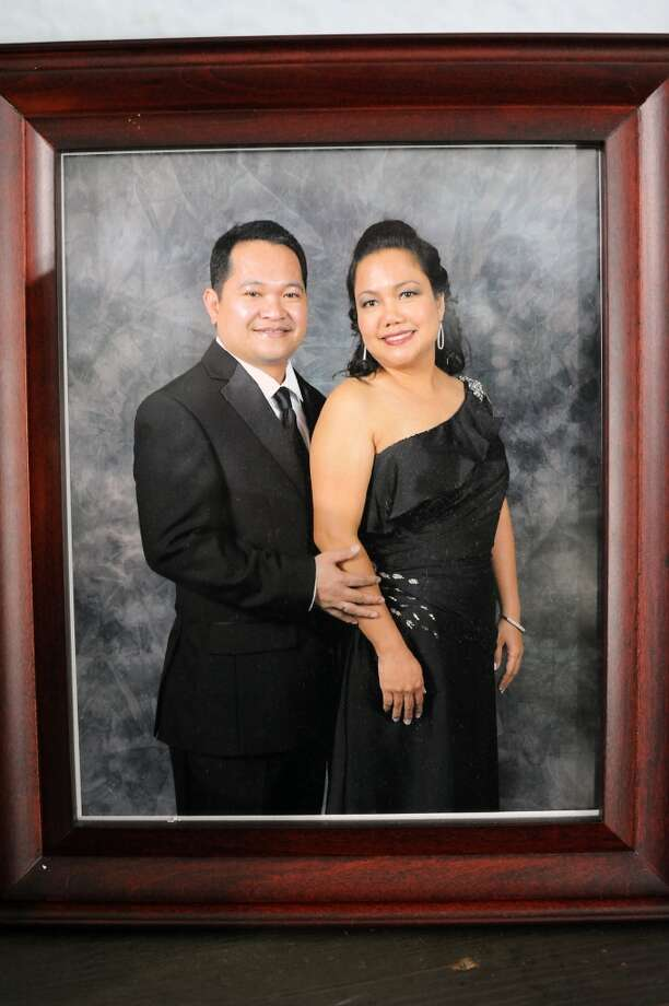 A portrait of Aldrin Geronga and his wife Felomina Geronga, at the family's home Alameda, CA Wednesday May 8th, 2013.