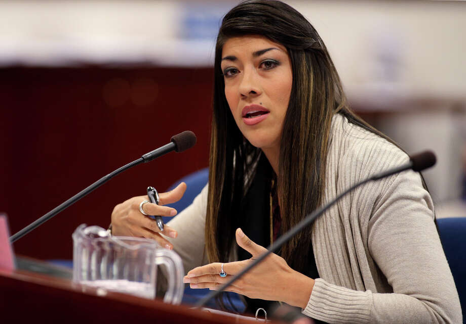 Nevada Assemblywoman Lucy Flores, D-Las Vegas, presents a measure in committee at the Legislative Building in Carson City, Nev., on Friday, May 10, 2013. Flores urged the committee to support her proposal that would provide an avenue for victims of domestic violence to get out of leases without being financially liable for the remainder of the lease. Photo: AP
