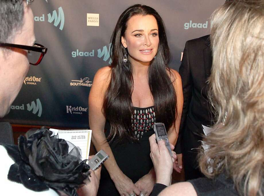 Kyle Richards who stars on the TV show real Housewives talks to reporters on the red carpet at the 24th annual GLAAD media awards Saturday, May 11, 2013 in San Francisco, Calif. Photo: Lance Iversen, The Chronicle