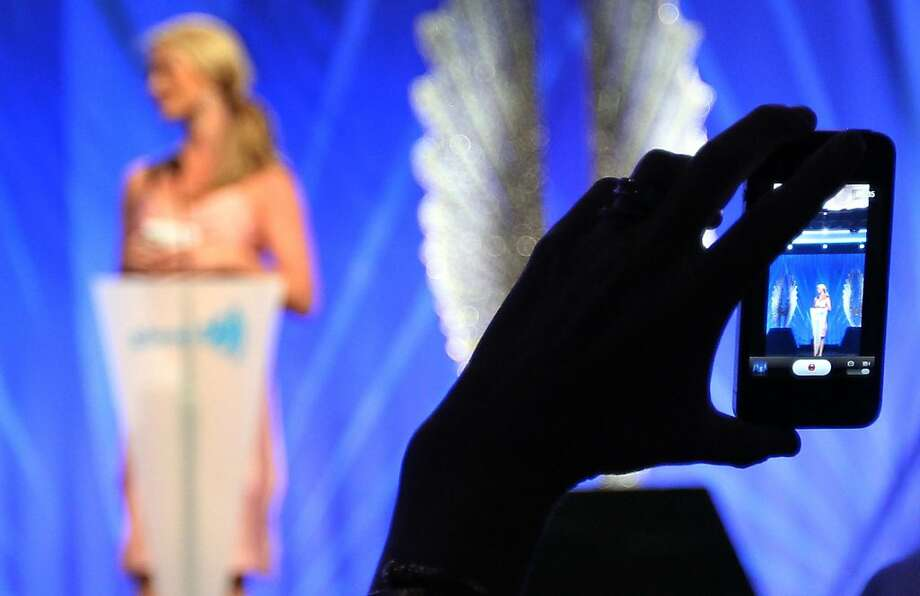 Jennifer Siebel Newsom, wife of Lieutenant Governor Gavin Newsom is photographed while introducing her husband at the GLAAD media awards Saturday, May 11, 2013 in San Francisco, Calif. Photo: Lance Iversen, The Chronicle