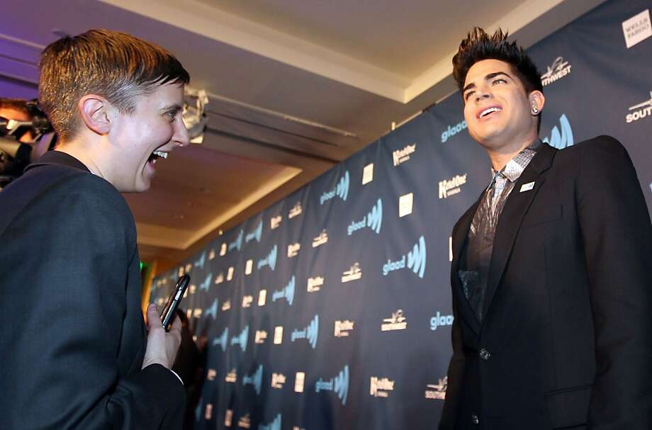Singer-song writer Adam Lambert walks the red carpet at the annual GLAAD media awards Saturday, May 11, 2013 in San Francisco, Calif. Lambert was nominated for Outstanding Music award. Photo: Lance Iversen, The Chronicle