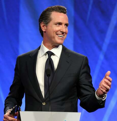 Lt. Gov. Gavin Newsom says the curriculum needs to be designed for middle school students. Photo: Lance Iversen, The Chronicle
