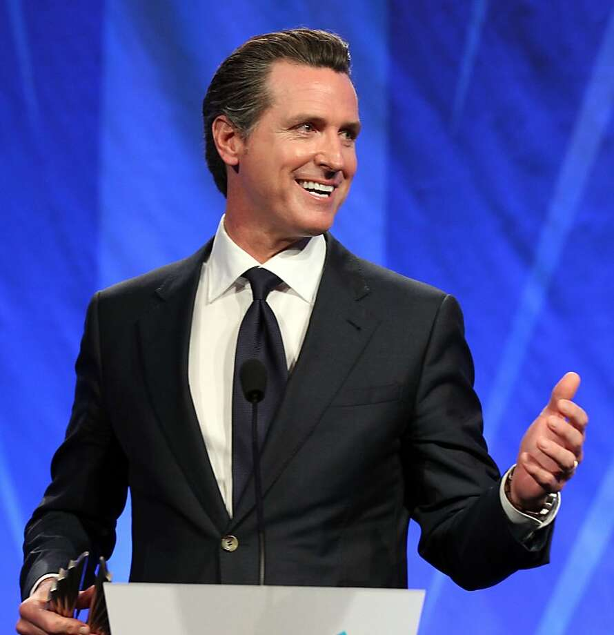 Lieutenant Governor Gavin Newsom, accepted an award at the GLAAD media awards Saturday, May 11, 2013 in San Francisco, Calif. Photo: Lance Iversen, The Chronicle
