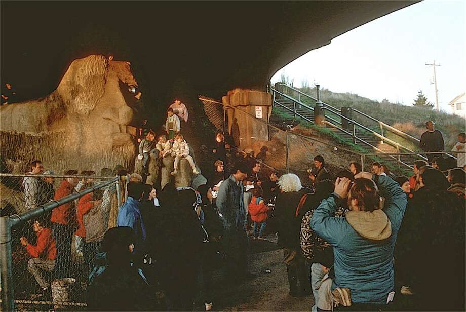 Troll dedication ceremony.  (Photo courtesy of Michael Falcone and 'The Hall of Giants')