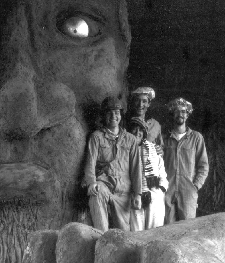 The four principal Troll artists: Will Martin, Donna Walter, Steve Badanes and Ross Whitehead.  (Photo courtesy of Michael Falcone and 'The Hall of Giants')