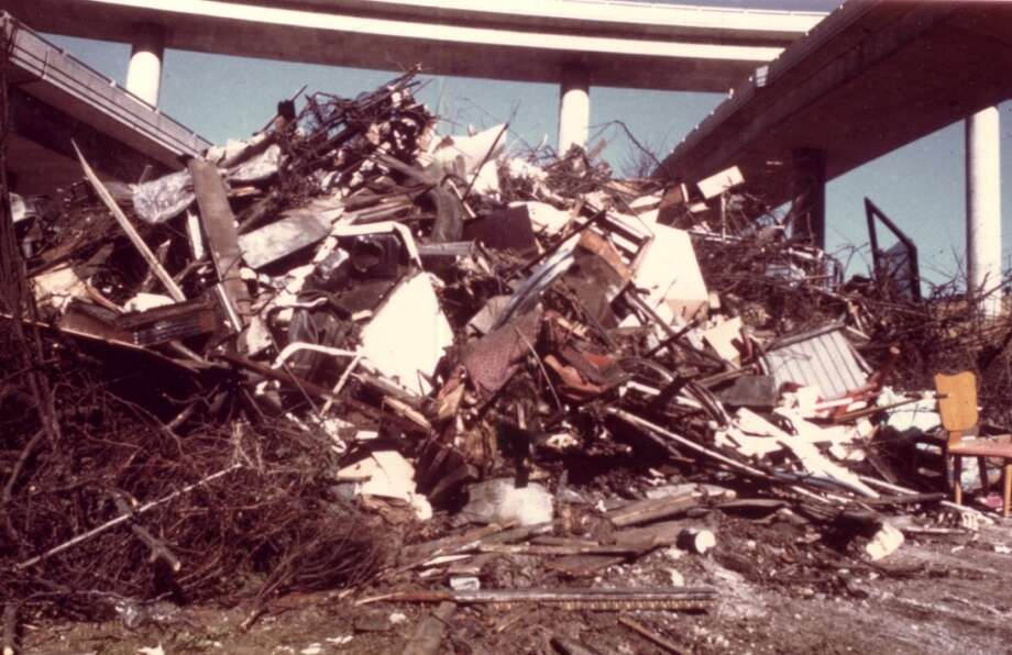 Dumping garbage and scrap metal under Seattle bridges was one of the reasons the Troll came about.  (Photo courtesy of Michael Falcone and 'The Hall of Giants')