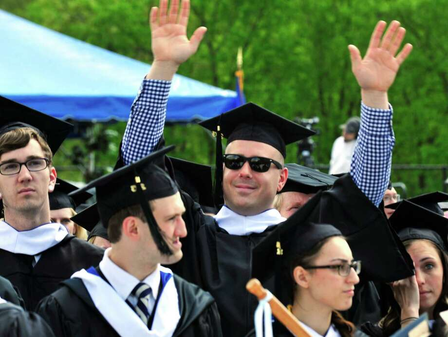 The class of 2013 graduates during Western Connecticut State University's 115th Commencement Exercises in Danbury, Conn. Sunday, May 12, 2013. Photo: Michael Duffy / The News-Times