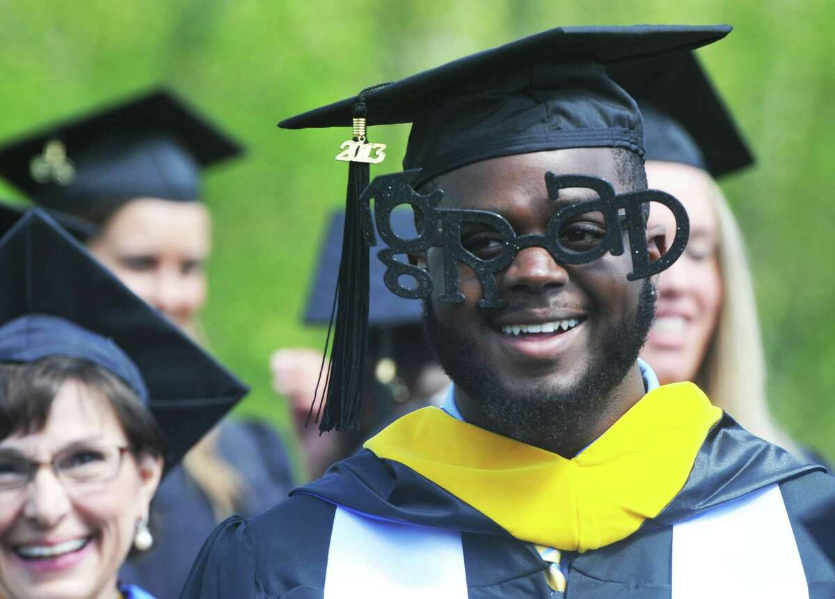 The class of 2013 graduates during Western Connecticut State University's 115th Commencement Exercises in Danbury, Conn. Sunday, May 12, 2013.