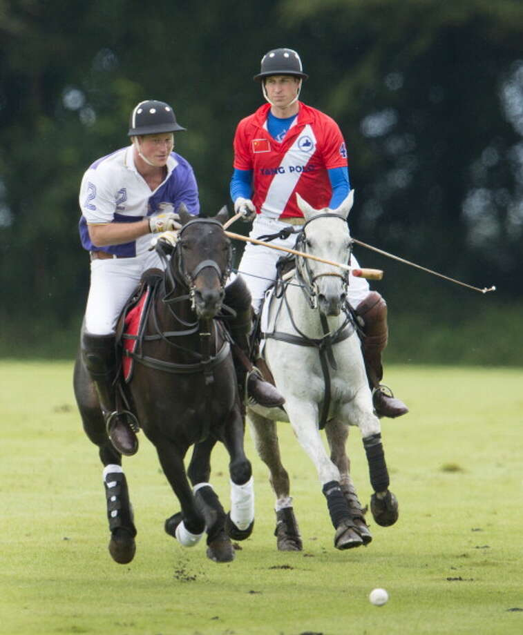 Prince William And Prince Harry Play In The Jerudong Trophy Polo Match At Cirencester Park Polo Club, In Cirencester. (Photo by Mark Cuthbert/UK Press via Getty Images) Photo: Mark Cuthbert, UK Press Via Getty Images / Getty Images