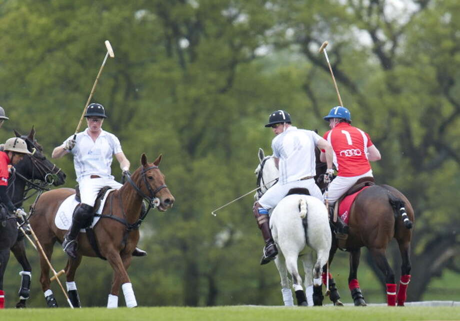 Prince William And Prince Harry At The Audi Polo Challenge Charity Polo Match At Coworth Park Polo Club In Ascot, England. (Photo by Mark Cuthbert/UK Press via Getty Images) Photo: Mark Cuthbert, UK Press Via Getty Images / Getty Images