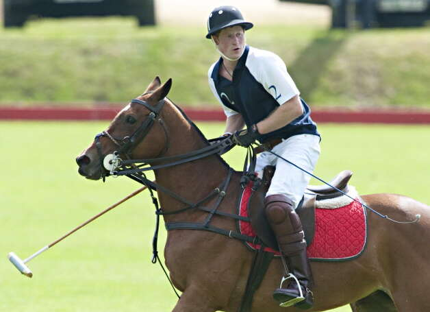 Prince Harry Plays Polo At The Beaufort Polo Ground Watched By Zara Phillips,Mike Tindall And Peter Phillips And Wife Autumn And Their New Baby, Savannah.Picture Shows ; Prince Harry . (Photo by Antony Jones/UK Press via Getty Images) Photo: Antony Jones, UK Press Via Getty Images / Getty Images