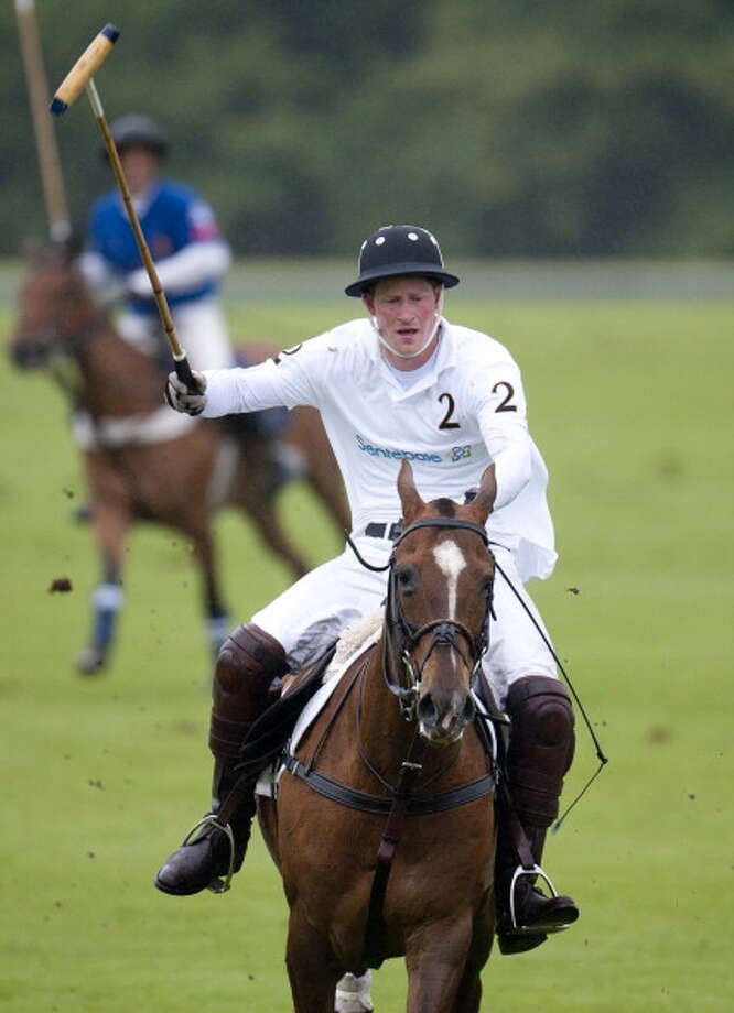 Prince Harry Takes Part In A Charity Polo Match In Aid Of Disadvantaged African Children, At Cowarth Park, Sunninghill, Near Ascot. (Photo by Mark Cuthbert/UK Press via Getty Images) Photo: Mark Cuthbert, UK Press Via Getty Images / Getty Images