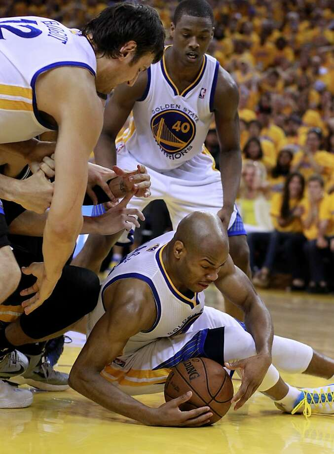 Jarrett Jack (2) came up with a huge rebound near the end of regulation play. The Golden State Warriors beat the San Antonio Spurs 97-87 in the playoffs Sunday May 12, 2013 at Oracle Arena in Oakland, Calif. Photo: Brant Ward, The Chronicle