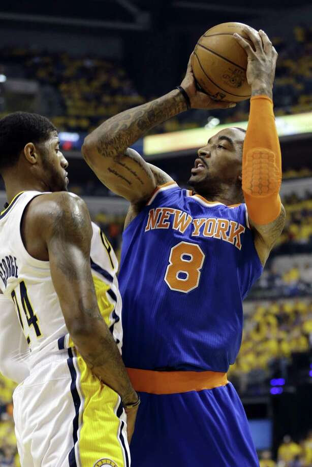 The Knicks' J.R. Smith was able to play in Game 3 against the Pacers despite running a 102-degree fever. Photo: Darron Cummings / AP