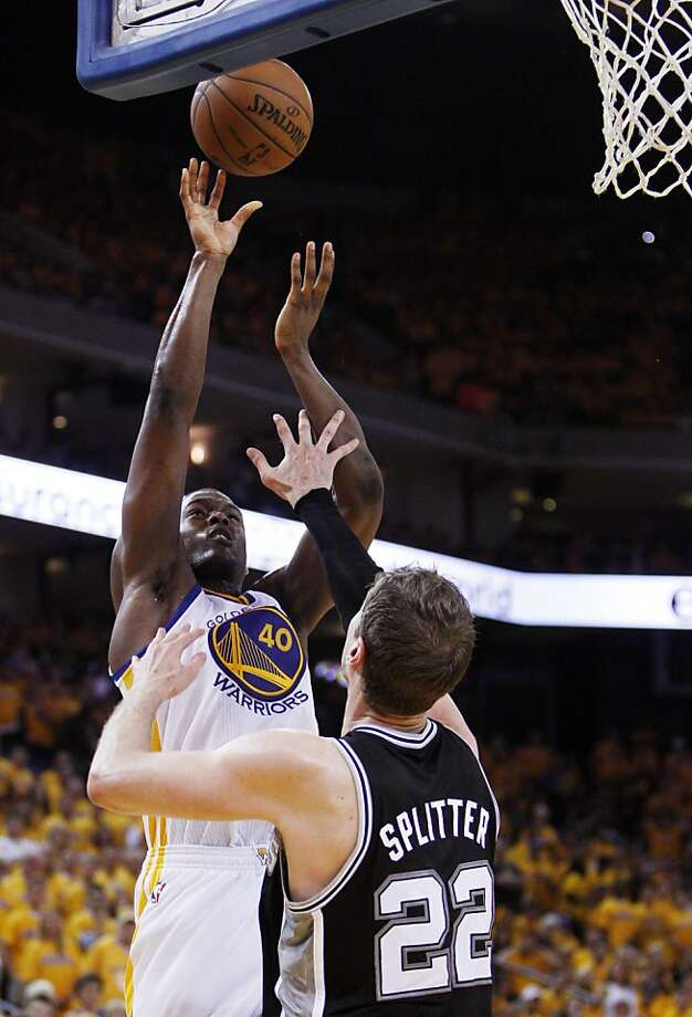 Harrison Barnes (40) puts up a shot in the second half. The Golden State Warriors played the San Antonio Spurs in Game 4 of the Wester Conference Semifinals at Oracle Arena in Oakland, Calif., on Sunday, May 12, 2013. Photo: Carlos Avila Gonzalez, The Chronicle