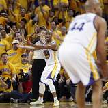 Jarrett Jack (2) reacts to an official's call in the first half. The Golden State Warriors played the San Antonio Spurs in Game 4 of the Wester Conference Semifinals at Oracle Arena in Oakland, Calif., on Sunday, May 12, 2013.