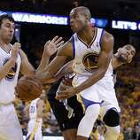 Jarrett Jack (2) passes the ball in the second half. The Golden State Warriors played the San Antonio Spurs in Game 4 of the Wester Conference Semifinals at Oracle Arena in Oakland, Calif., on Sunday, May 12, 2013.