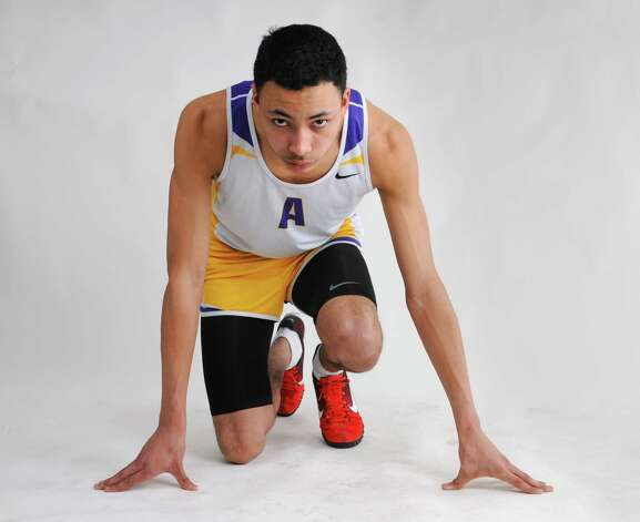 Boys' indoor track athlete of the year Izaiah Brown of Amsterdam High School Friday, March 22, 2013. (Will Waldron/Times Union) Photo: Will Waldron