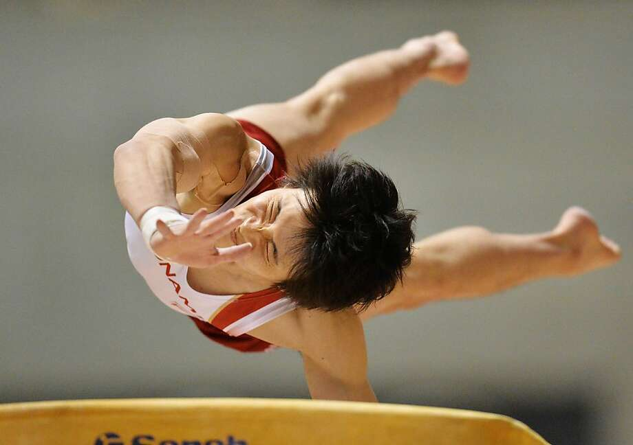 TOKYO, JAPAN - MAY 12:  Yusuke Tanaka of Japan competes on the vault during day two of the 67th All Japan Artistic Gymnastics Individual All Around Championship at Yoyogi National Gymnasium on May 12, 2013 in Tokyo, Japan.  (Photo by Atsushi Tomura/Getty Images) *** BESTPIX *** Photo: Atsushi Tomura, Getty Images