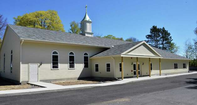 The newly rebuilt Mayfield Presbyterian Church in Mayfield, NY Tuesday May 7, 2013.  (John Carl D'Annibale / Times Union Photo: John Carl D'Annibale / 00022307A