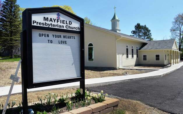 The newly rebuilt Mayfield Presbyterian Church in Mayfield, NY Tuesday May 7, 2013.  (John Carl D'Annibale / Times Union) Photo: John Carl D'Annibale / 00022307A