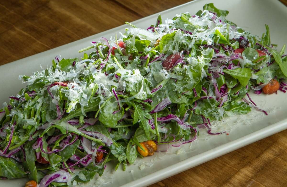 The Arugula and Pickled Carrot Salad at Padrecito.