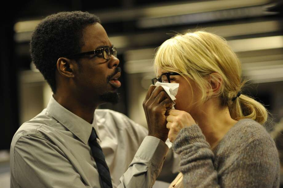 """Chris Rock and Julie Delpy in """"2 Days in New York.""""  Really funny, really fun, human, delightful -- and Rated R."""