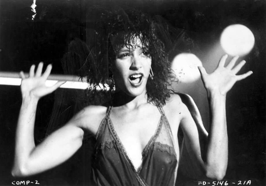 Jennifer Beals in Flashdance.  Some sensuality and course talk, that's it.